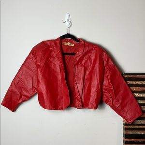 Frankly Amaury Vintage Red Leather Jacket